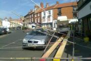 Woman, 65, airlifted to hospital after being hit by falling scaffolding - UPDATED 4.40pm