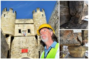 Vital extra works needed to save Walmgate Bar from collapse - restoration to continue for two more months