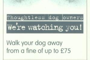 'We're Watching You', dog owners who don't pick up after their animals are warned